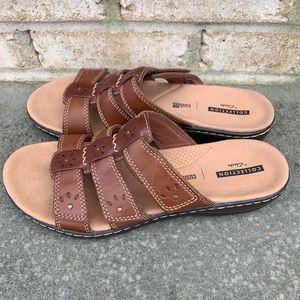 Women's Clark's Leisa Spring Brown Leather Sandal